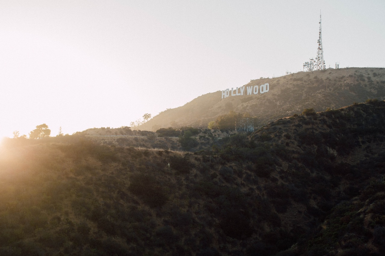 photo of hollywood sign on the hills